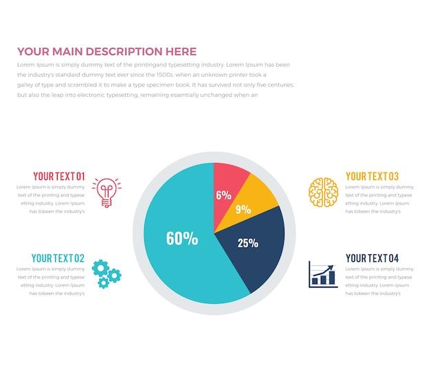 Cirkeldiagram infographics