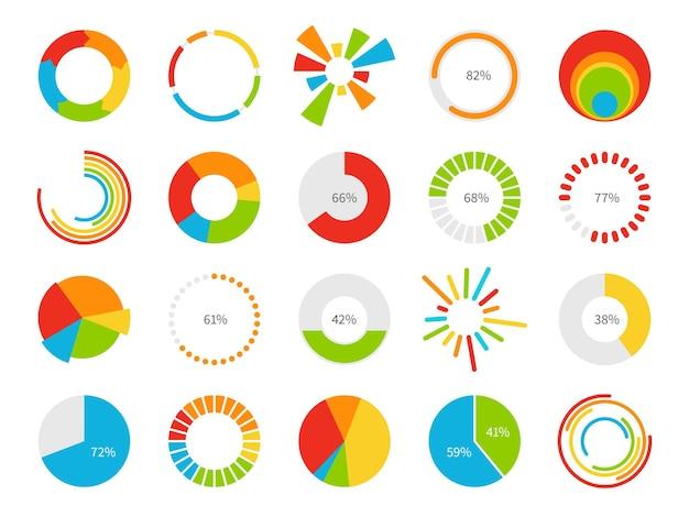 Cirkeldiagrammen illustratie