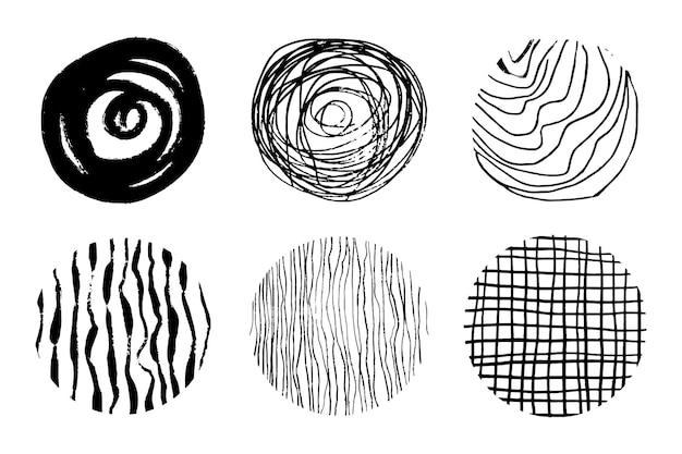Cirkelelementen voor ontwerpen instellen vectorillustratie