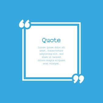 Cirkelframe voor citaten en teksten met blauwe achtergrond