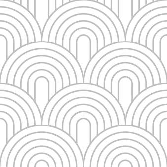Cirkellijnkunst stapelen in zilveren kleur