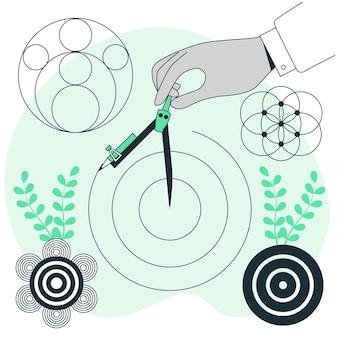 Cirkels concept illustratie