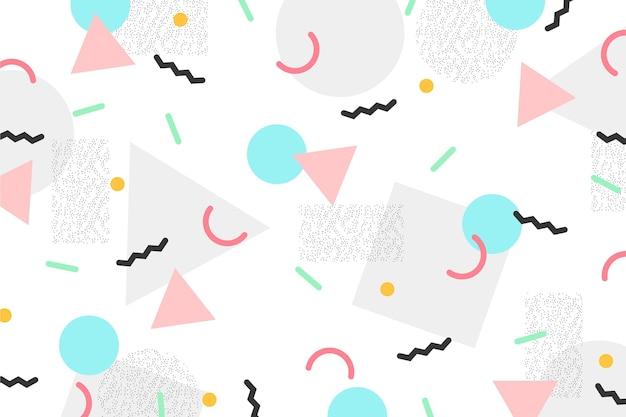 Cirkels en driehoeken memphis achtergrond