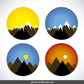 Cirkels met bergen
