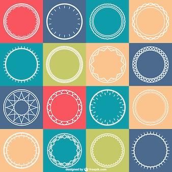 Cirkels patroon vector