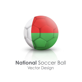Cirkelsfeer rond object soccerball