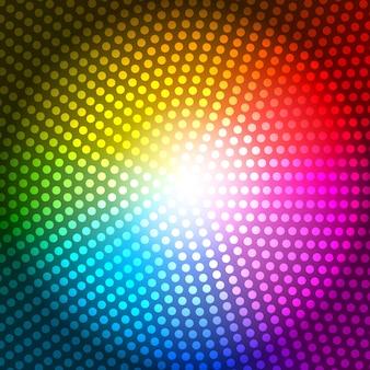 Cirkelstraal abstracte regenboog achtergrond vectorillustratie