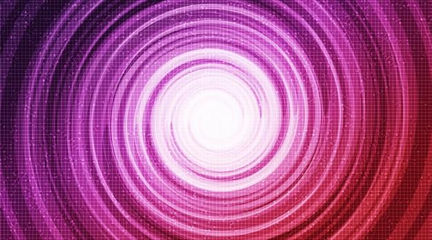 Cirkeltechnologie op toekomstige achtergrond, hi-tech digitale en communicatieconceptontwerp, vrije ruimte voor tekst, vectorillustratie.