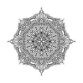 Cirkelvormig patroon in de vorm van een mandala voor henna, tatoeage, decoratie en kleurplaat