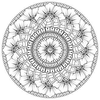 Cirkelvormig patroon in de vorm van mandala met bloem. decoratief ornament in etnische oosterse stijl.