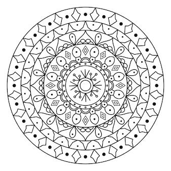 Cirkelvormig patroon in de vorm van mandala