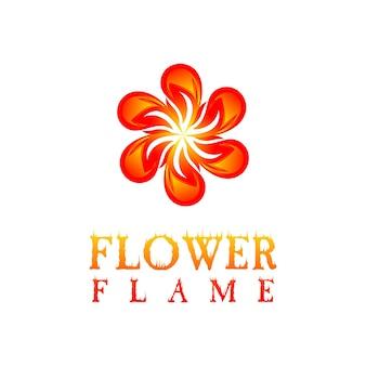 Cirkelvormig vonkenlogo maakt bloemen