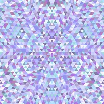 Cirkelvormige driehoek caleidoscoop mandala achtergrond - symmetrische vector patroon grafisch van gekleurde driehoeken