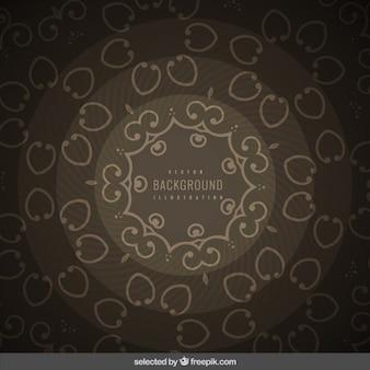Cirkelvormige en sierachtergrond