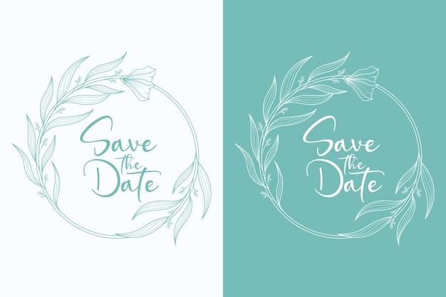 Cirkelvormige stijl mooie bloemen bruiloft krans en bruiloft frame