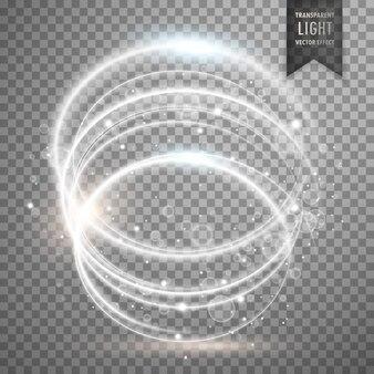 Cirkelvormige witte transparante licht effect achtergrond