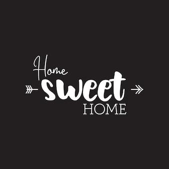 Citaat inspiratie home sweet home
