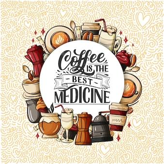 Citaat koffiekopje typografie