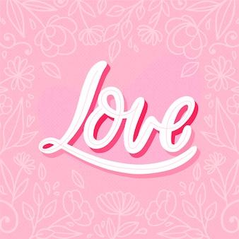 Citaat met liefde concept
