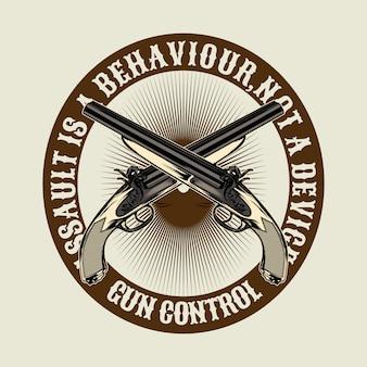 Citaat over pistool, mishandeling is gedrag