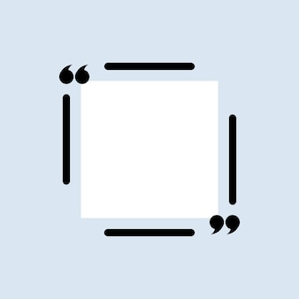 Citaat pictogram. aanhalingstekenoverzicht, spraaktekens, aanhalingstekens of verzameling van sprekende tekens. vierkant. vectoreps 10. geïsoleerd op achtergrond.