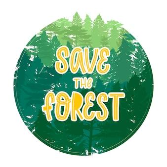 Citaat 'red het bos'