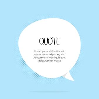 Citaten kaders. citaatopmerking, vermeld citatenkader en toelichtingstekstsjabloon. praten met citaatkaders, citatiememo of dialoogballon. geïsoleerde vector symbolen set