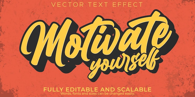 Citeer teksteffect, bewerkbare motivatie en inspiratietekststijl