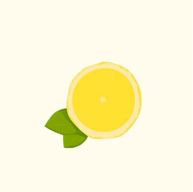Citroen fruit logo embleem citrus gezond vers voedsel realisme