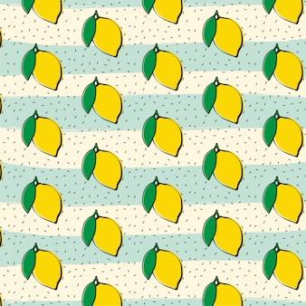 Citroen fruit patroon achtergrond