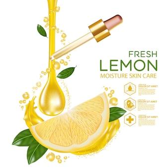 Citroenfruit serum vocht huidverzorging cosmetisch