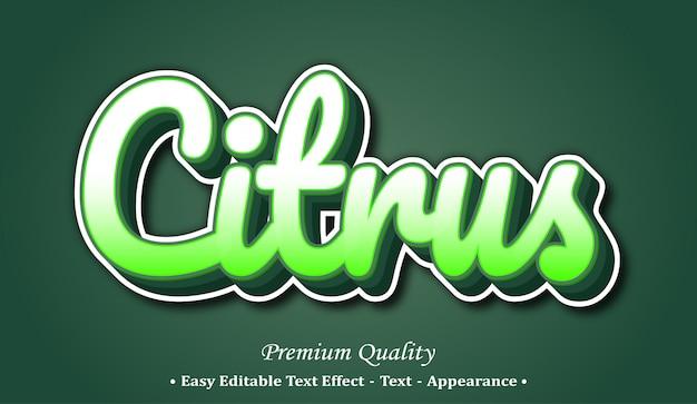 Citrus 3d-lettertype effect