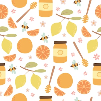 Citrus en honing patroon