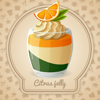 Citrus jelly illustratie