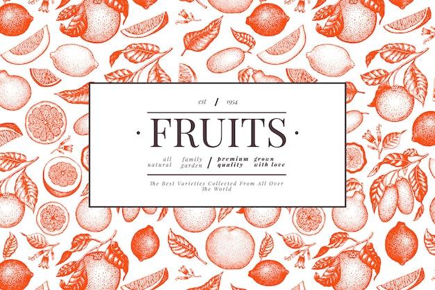 Citrus rood sjabloon.