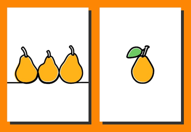 Citrusvruchten oneline doorlopende lijntekeningen premium vector