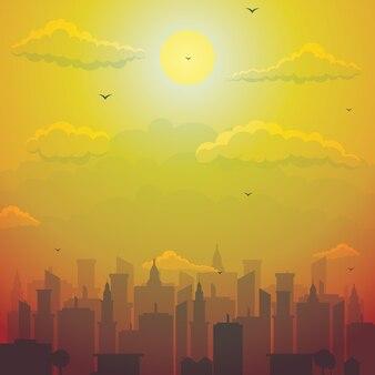 City Cityscape Skyline Landscape Building Illustratie