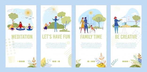 City park activity - plezier met familie en vrienden.
