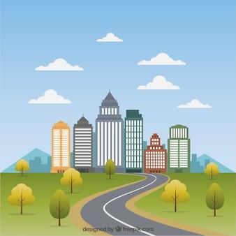 Cityscape flat illustratie
