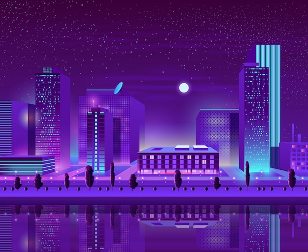 Cityscape van de moderne stad stadsbeeldverhaal