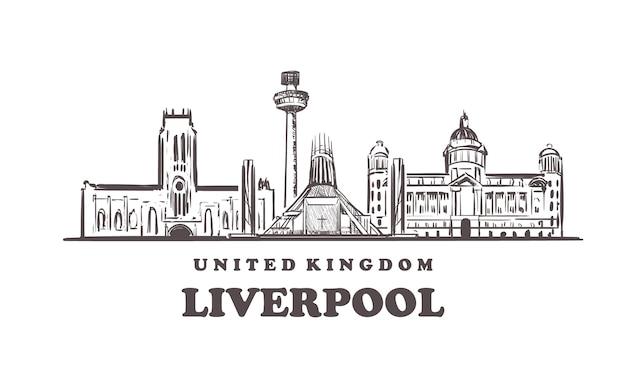 Cityscape van liverpool, verenigd koninkrijk