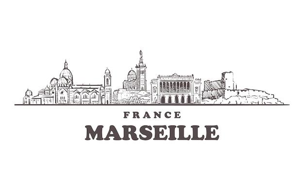 Cityscape van marseille, frankrijk