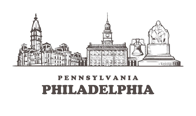 Cityscape van philadelphia, pennsylvania