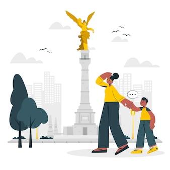 Ciudad de méxico concept illustratie
