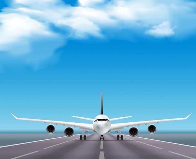 Civiele passagiersvliegtuig jet