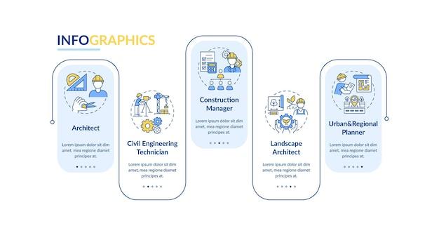 Civiele techniek professionele infographic sjabloon