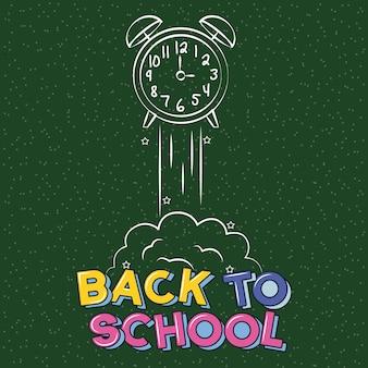 Clack getekend op schoolbord