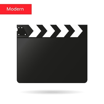 Clap film board vector clapper