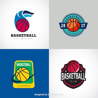Classic basketbal logo collectie