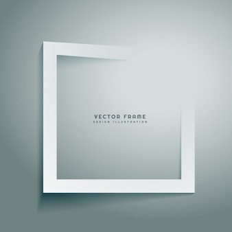 Clean abstract frame